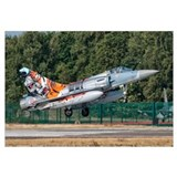 A French Air Force Mirage 2000 lands on the runway