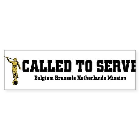 Belgium Brussels Netherlands Sticker (Bumper 10 pk