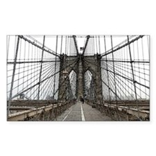 Brooklyn Bridge Sticker (Rectangle)