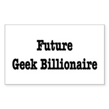 Future Geek Billionaire Rectangle Decal