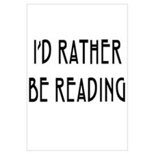 Rather Be Reading Nouveau Wall Art
