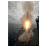A tomahawk missile launch aboard USS Preble