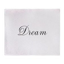 Dream Inspiration Word Throw Blanket