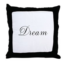 Dream Inspiration Word Throw Pillow