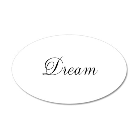Dream Inspiration Word 38.5 x 24.5 Oval Wall Peel
