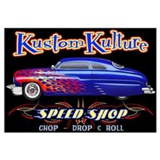 Kustom Kulture - Blue Lead Sled Wall Art