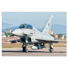 An Italian Air Force Eurofighter Typhoon at Grosse
