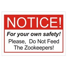 Notice / Zookeepers Wall Art
