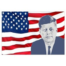 Kennedy and Flag Wall Art
