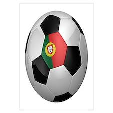 Portuguese soccer ball Wall Art