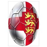 Three Lions Football Wall Art