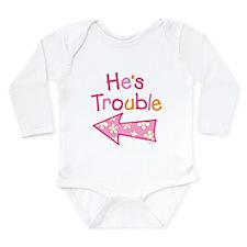 Unique Twin Long Sleeve Infant Bodysuit