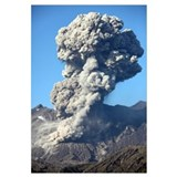 Ash cloud following explosive Vulcanian eruption,