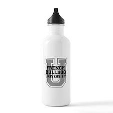 French Bulldog UNIVERSITY Water Bottle