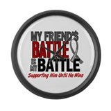 My Battle Too Brain Cancer Large Wall Clock