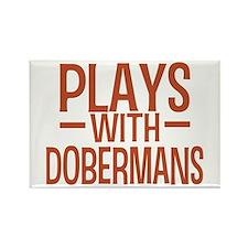 PLAYS Dobermans Rectangle Magnet