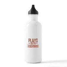 PLAYS Dobermans Water Bottle