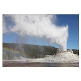 Castle Geyser eruption, Yellowstone National Park,