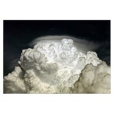Cumulus Congestus cloud with Pileus