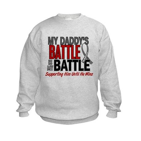 My Battle Too Brain Cancer Kids Sweatshirt