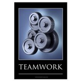 Teamwork motivational poster Wall Art