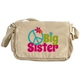 Peace Sign Big Sister Messenger Bag