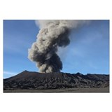 Eruption of ash cloud from Mount Bromo volcano, Te