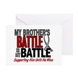 My Battle Too Brain Cancer Greeting Cards (Pk of 2