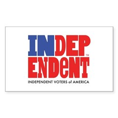 Independent Voters of America Sticker (Rectangle)