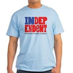 Independent Voters of America Light ColoredT-Shirt