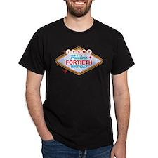 Las Vegas Birthday 40 Dark T-Shirt