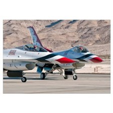 U.S. Air Force Thunderbirds on the ramp at Nellis
