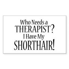 THERAPIST Shorthair Decal