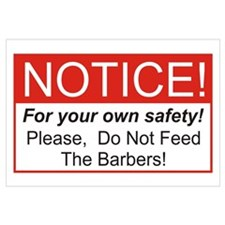 Notice / Barber Wall Art