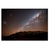 The Milky Way rising above the hills of Azul, Arge