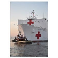 The hospital ship USNS Comfort departs for deploym