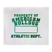 Property of American Bulldog Throw Blanket