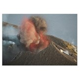 Strombolian eruption of Stromboli volcano producin