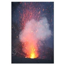 Strombolian eruption from vent in summit crater, Y
