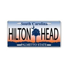 Funny South carolina palmetto tree Aluminum License Plate
