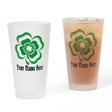Customizable Stacked Shamrock Drinking Glass
