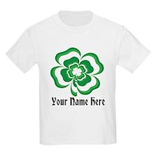 Customizable Stacked Shamrock T-Shirt