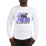 Never Knew a Hero Esophageal Cancer Long Sleeve T-