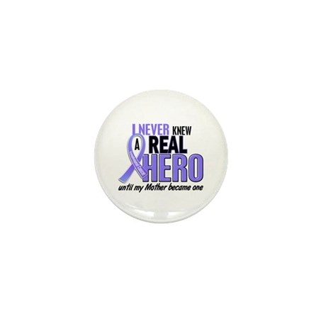 Never Knew a Hero Esophageal Cancer Mini Button (1