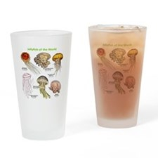 Jellyfish of the World Drinking Glass