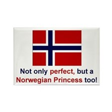 "Perfect Norwegian Princess Magnet (3""x2"")"
