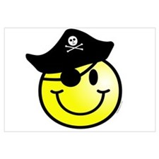 Smiley Pirate Wall Art
