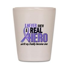 Never Knew a Hero Esophageal Cancer Shot Glass