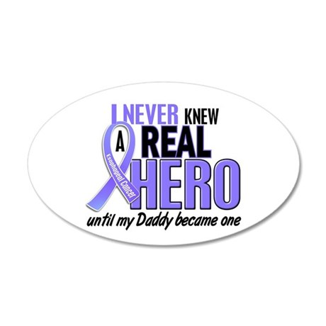 Never Knew a Hero Esophageal Cancer 22x14 Oval Wal