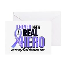 Never Knew a Hero Esophageal Cancer Greeting Card